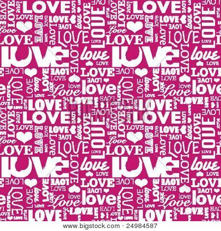 Naadloze liefde hart vorm patroon in vector