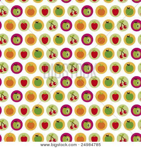 Patrón de la fruta perfecta en vector
