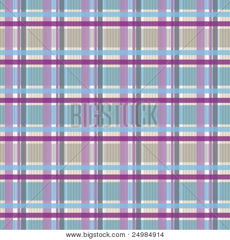 Seamless Checkered fabric pattern in vector