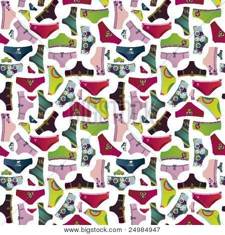 Hübsch Unterwäsche Muster in Vektor