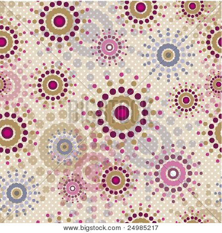 Seamless soft coloured retro pattern in vector