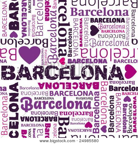 i love Barcelona seamless background pattern in vector