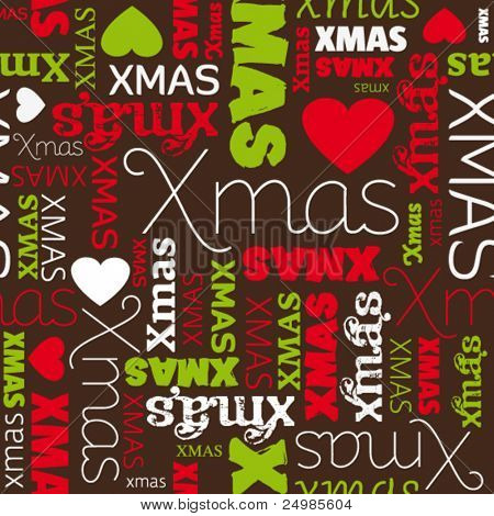 i love christmas seamless pattern background in vector