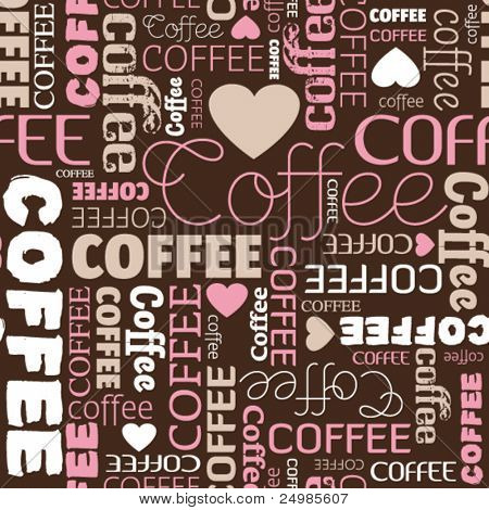 i love coffee seamless pattern in vector