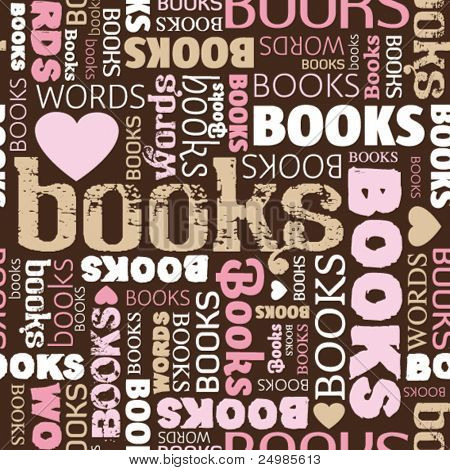 i love books seamless pattern background in vector