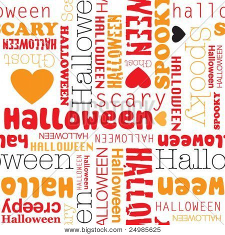 I love halloween seamless background pattern in vector