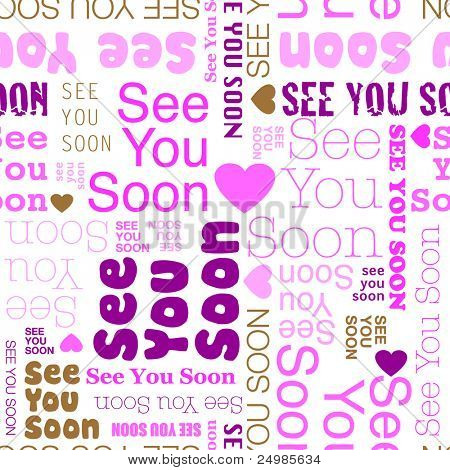 See you soon seamless background pattern in vector