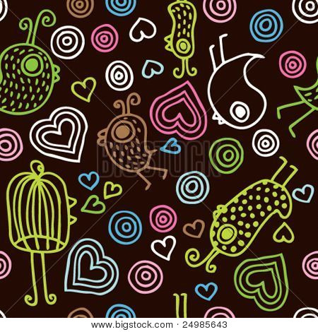 Colorful kids pattern seamless background pattern in vector