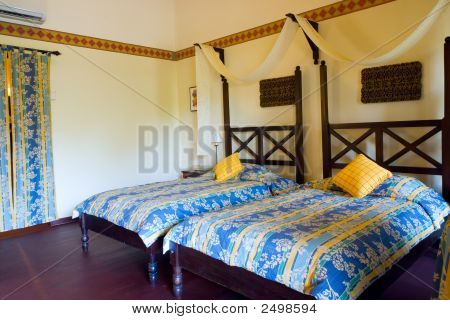 Interior Of A Resort Room In Tropical Indonesia