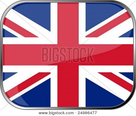 Great Britain flag icon with official coloring