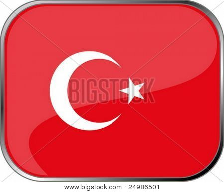 Turkey flag icon with official coloring