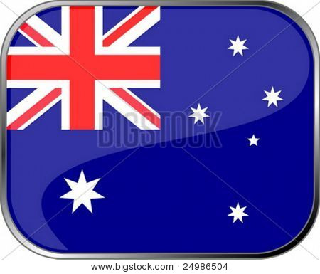Australia flag icon with official coloring