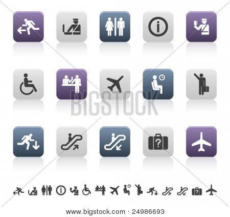 viajes y Aeropuerto pictogramas (1 de 3)
