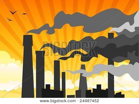 heavy industrial smog