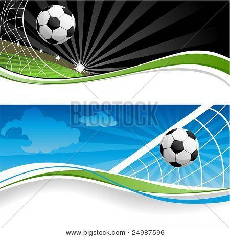 Zwei Fußball-Banner
