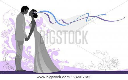 Hochzeit Background with Space for text