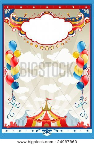 Circus frame with space for text