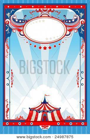 Cartel de circo con espacio para texto