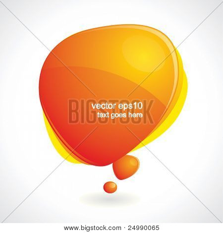 Colorful vector speech bubble with reflection