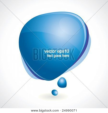 Shiny speech bubble - vector