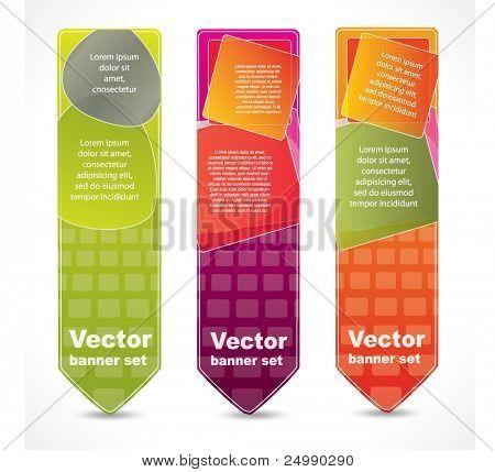 Banners abstractos verticales con el lugar para su texto promocional