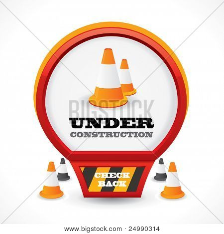 Under construction web style icon