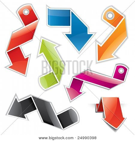 Glossy arrow shaped  price tag / label set