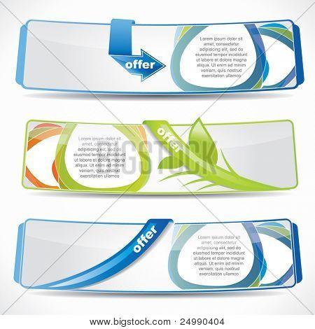 Modern web2 website banner set with speech balloons and reflection