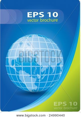 Abstract vector cover design with earth, blue and green colors