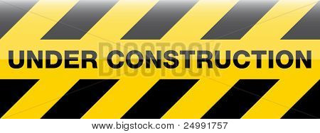 modern under construction sign