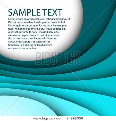 Abstrakt blau Hintergrund durch einen eigenen text