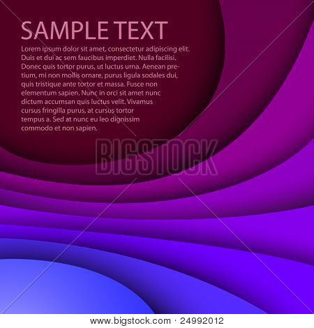 Abstract dark blue background with custom text