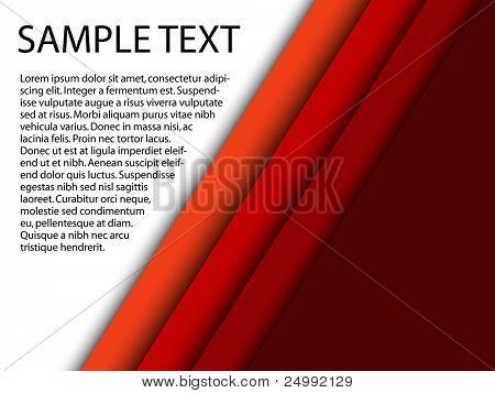 Resumen fondo rojo con texto personalizado