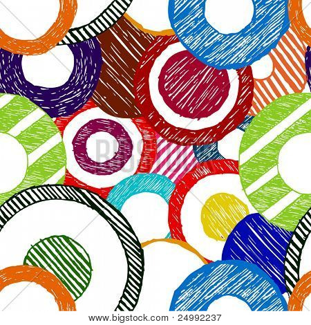 abstract seamless doodle circles