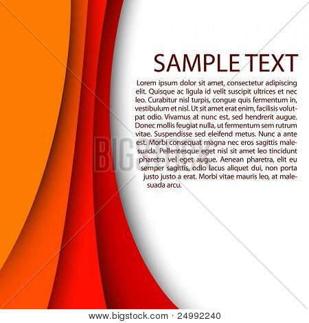 Abstract red background with custom text copy space