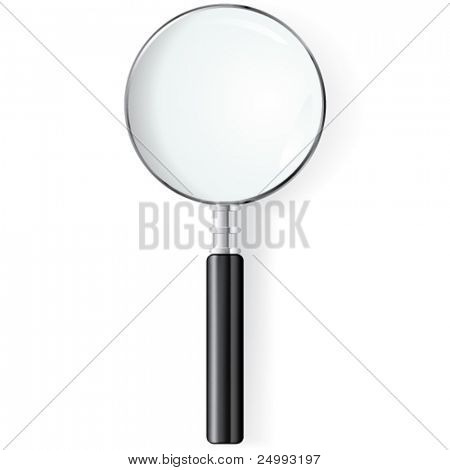 Vector Black Magnifying Glass