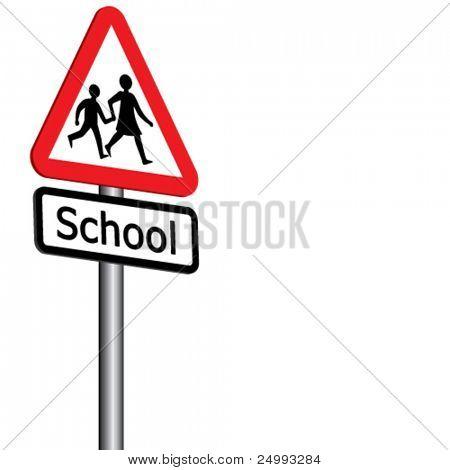 Vektor-Schule Sign 3D (1 von 2) - auch vorhanden links gerichteten