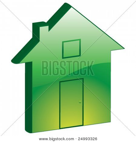 Vector Eco Home, Property, Homepage - 3D Glossy Icon