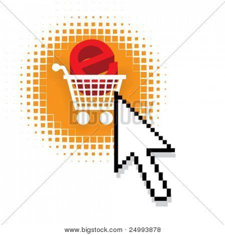 Internet-shopping, e-Commerce-Konzept Vektor