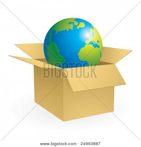 Vector Un-boxing a New World - Icon