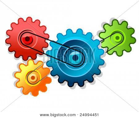 colored vector cogs