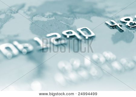 Reportaje de macro de una tarjeta de crédito. Perfecto para el uso del fondo