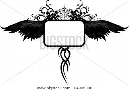 Gothic black wings design