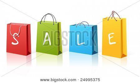 Sacos de venda de compras