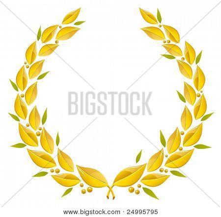 Golden wreath