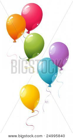 Colorful vector balloons