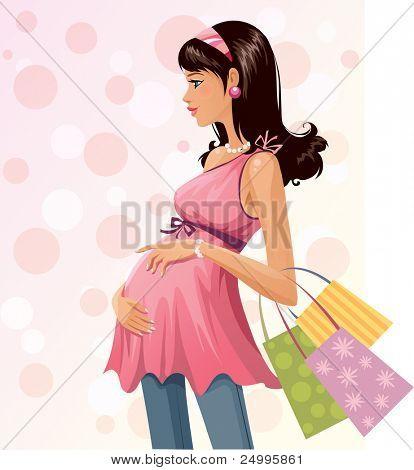 Schwangere shopper