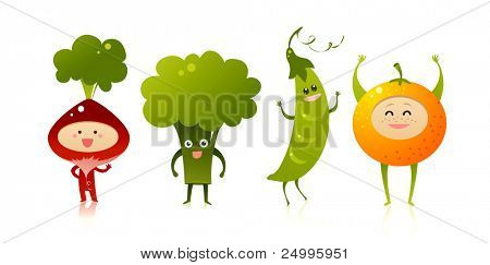 Happy fruits and vegetables