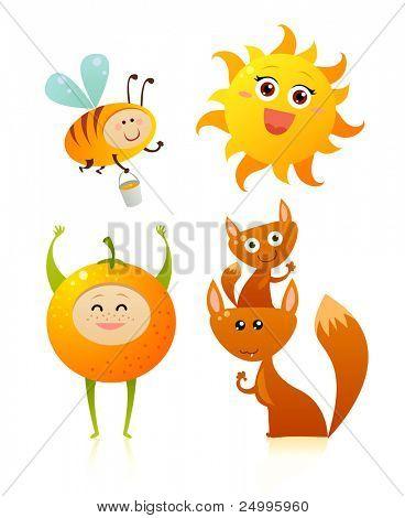Cute orange friends