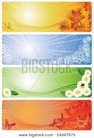 Four Seasons Banners with place for your text